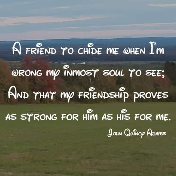 A friend to chide me when I'm wrong my inmost soul to see...