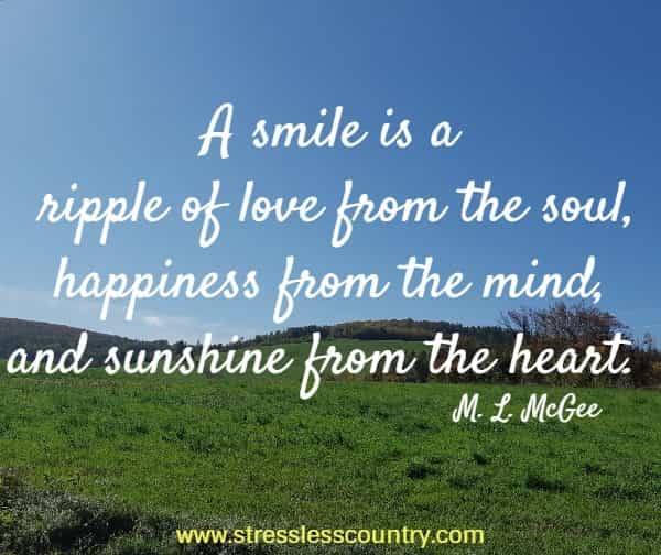 a smile is a ripple of love