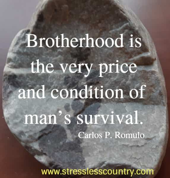 famous brotherhood quotes