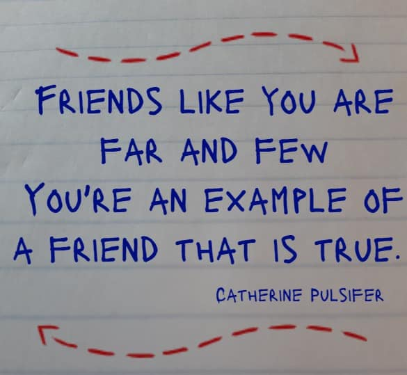 Friends like you are far and few...