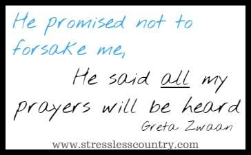 He promised not to forsake me, He said all my 