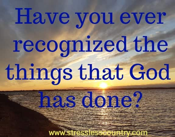 A poem about recognizing God