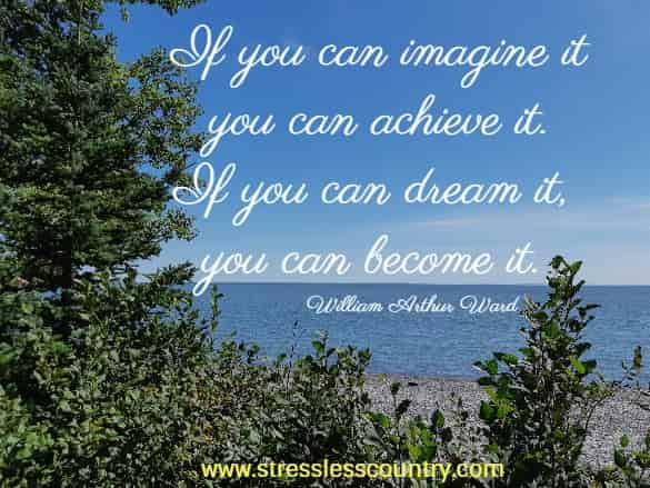 If you can imagine it you can achieve it. If you can dream it, you can become it.
