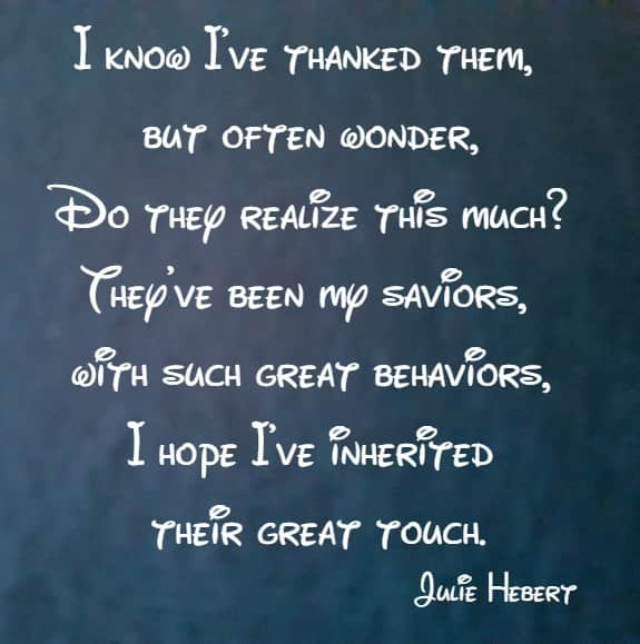 i know I've thanked them, but often wonder ...