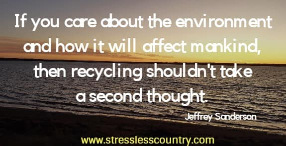 recycling quotes about caring