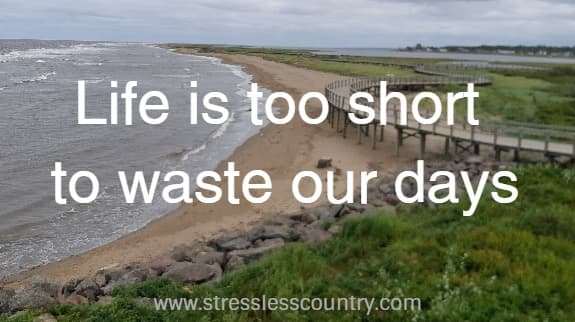 life is to short waste our days