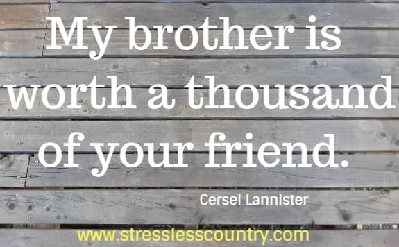 short quotes but wise for brothers