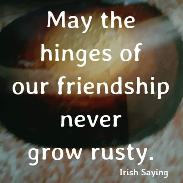 May the hinges of our friendship never grow rusty.