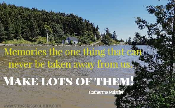Memories the one thing that can never be taken away from us.   Make lots of them! Catherine Pulsifer