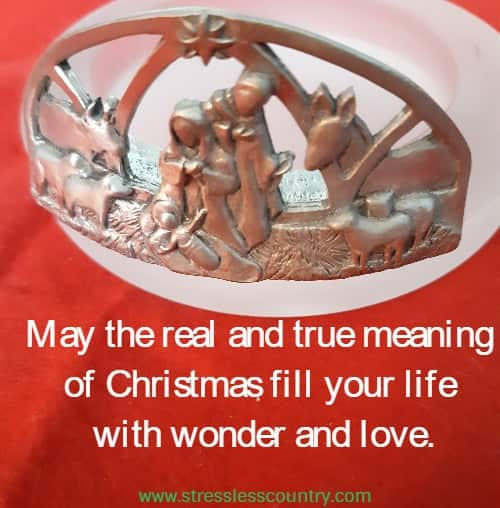 Encouraging Merry Xmas Messages - May the real and true meaning of Christmas fill your life with wonder and love.