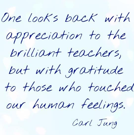 one looks back with appreciation to the brilliant teachers, ....