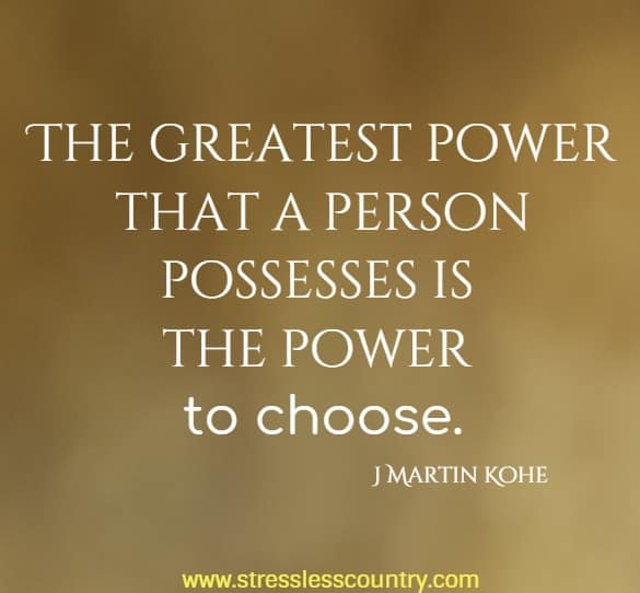 the greatest power that a ....