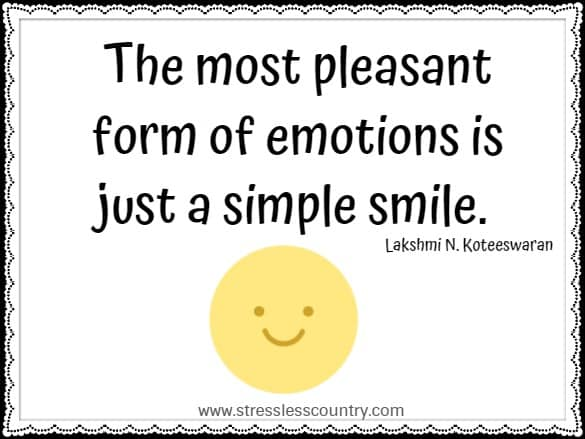 the most pleasant form of emotions...