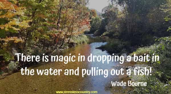 There is magic in dropping a bait in the water and pulling out a fish!