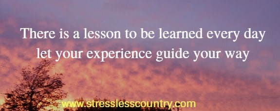life lessons poem about an experience
