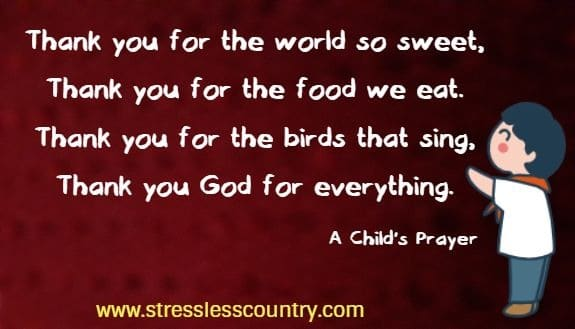 A Childs Prayer of Thanksgiving