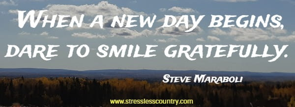 When a new day begins, dare to smile gratefully.