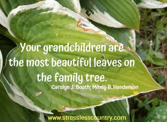 your grandchildren are...