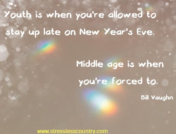 staying up on New Year's eve can reveal your age....